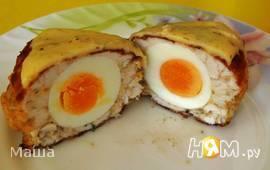 Куриные котлеты с яйцом под сыром