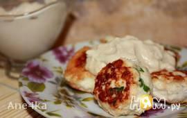 Фрикадельки со сливочным сыром в белом соусе
