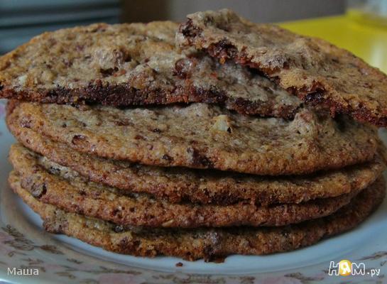 Хрустящее печенье с мягким шоколадом внутри