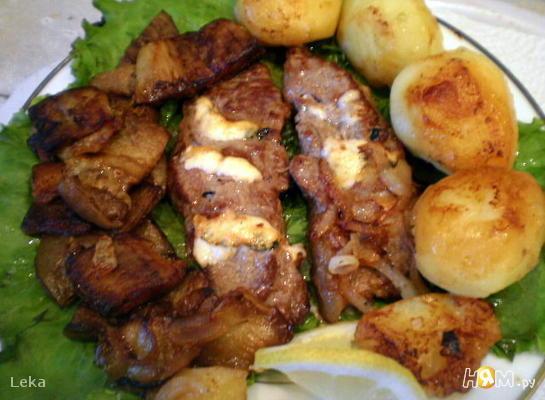 Рецепт Фаршированная говядина фламбе с овощами