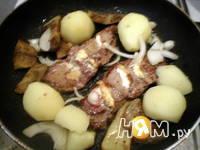 Приготовление фаршированной говядины фламбе: шаг 6