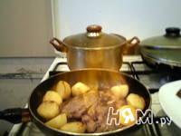 Приготовление фаршированной говядины фламбе: шаг 9
