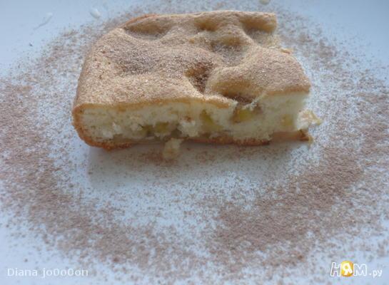 Рецепт Шарлотка с яблоками и бананами