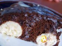 Приготовление шоколадного пирога с шариками: шаг 9