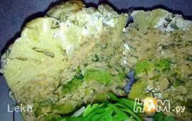 Запеканка из цветной капусты с брокколи