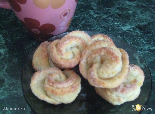 Рецепт Творожно-сахарные розочки