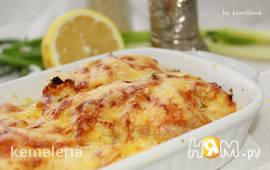 Филе на картофельной подушке с сырной корочкой