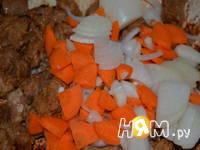 Приготовление мясного рагу с овощами: шаг 3