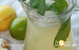 Лимонно-имбирный прохлаждающий напиток (лимонад)