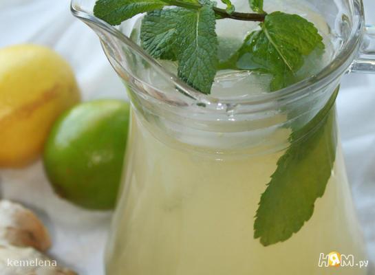 Рецепт Лимонно-имбирный прохлаждающий напиток (лимонад)