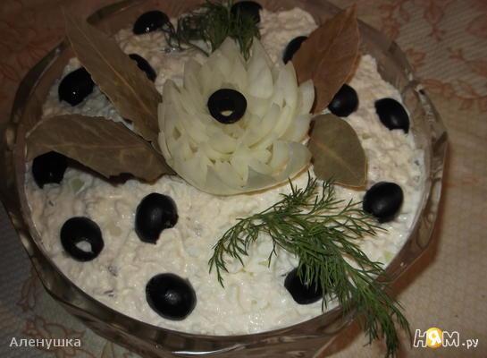 Рецепт Белый рыбный салат по-польски