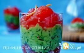 Форель с авокадо и грейпфрутом