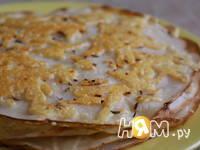 Приготовление блинов с сыром: шаг 4