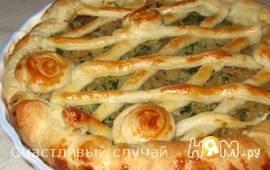 Пирог с капустой и шпинатом