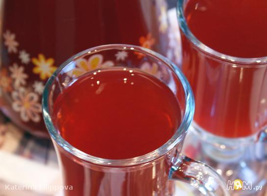 Рецепт Малиновый напиток с лимоном и базиликом