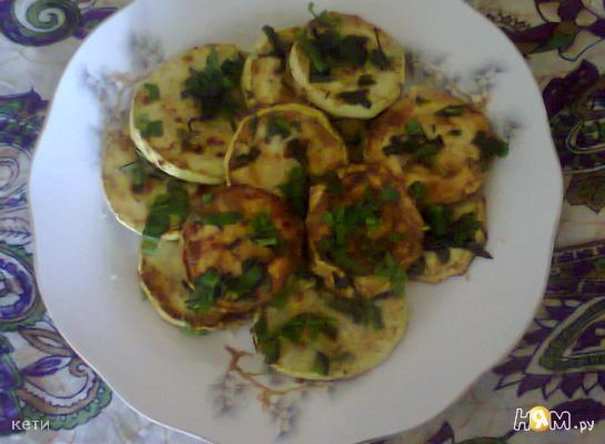 Рецепт Кабачки с зеленью чабера и мяты