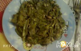 Стручковая фасоль с зеленью