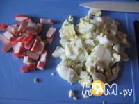 Приготовление салатного кольца: шаг 1