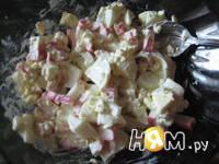 Приготовление салатного кольца: шаг 2