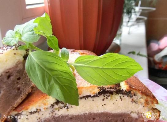 Рецепт Песочно-творожно-маковый пирог