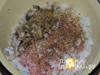 Приготовление голубцов с мясом, рисом и грибами: шаг 1
