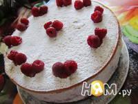 Приготовление творожно-малинового торта: шаг 16