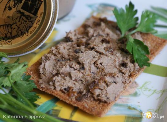 Рецепт Паштет из куриной печени с черносливом