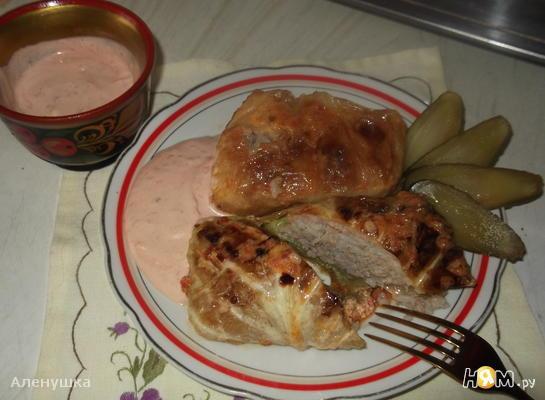 Рецепт Голубцы с мясом,запеченные в духовке