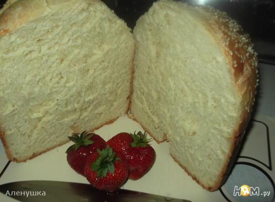 Рецепт Яичный хлеб на молоке с кунжутом