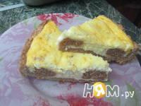 Приготовление творожного пирога Бурёнка: шаг 8