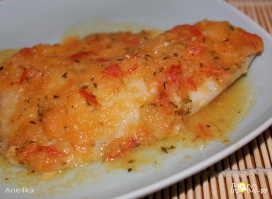 Филе рыбы в томатно-апельсиновом соусе