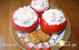 Пикантные помидорчики с крабами