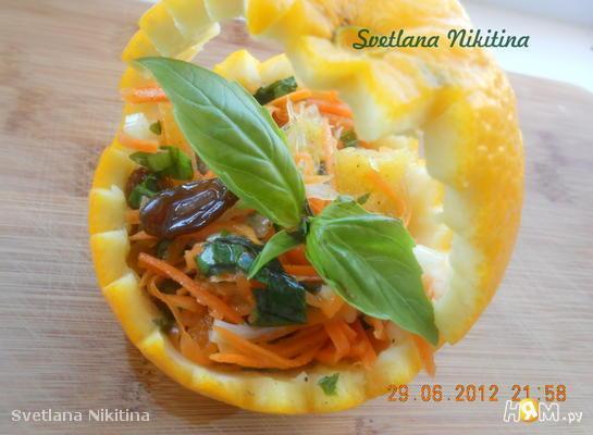 Пикантный салат с апельсином