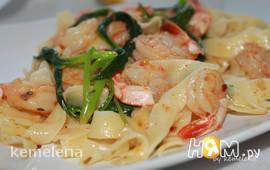 Флорентийская паста с креветками