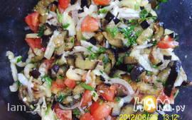 Салат с баклажаном