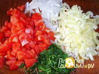 Приготовление салата с баклажаном: шаг 2