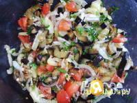 Приготовление салата с баклажаном: шаг 3