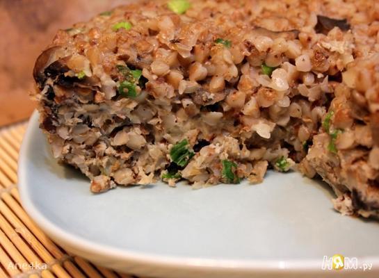 Рецепт Запеканка из гречневой каши с грибами