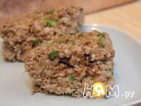 Приготовление запеканки из гречневой каши с грибами: шаг 7