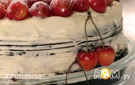 Черемуховый торт с черешней
