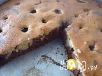Приготовление торта зебра с черешней: шаг 3