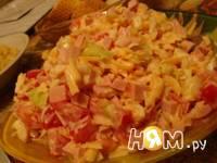 Приготовление салата из капусты и помидор: шаг 5