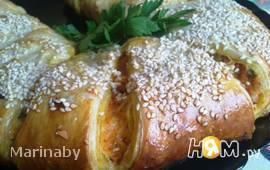 """Пирог """"Фирменный"""" с рыбой и овощами"""