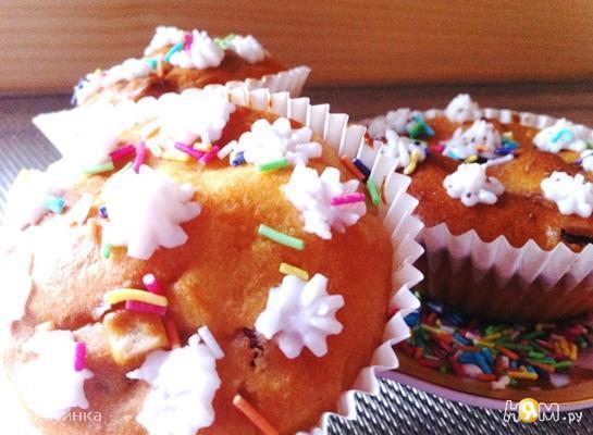 Рецепт Йогуртовые кексики (babeczki) с цукатами