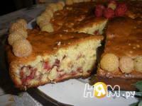 Приготовление пирога с малиной: шаг 8