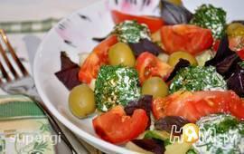 """Овощной салат с творожными шариками """"Краски лета"""""""