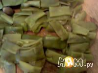 Приготовление мхали из стручковой фасоли: шаг 3