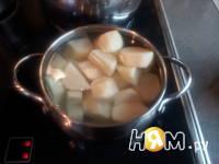 Приготовление мясной запеканки с картофелем: шаг 1