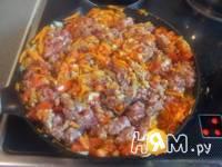 Приготовление мясной запеканки с картофелем: шаг 7