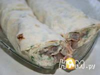 Приготовление селедки в лаваше: шаг 7
